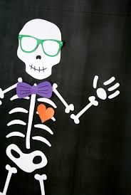 halloween skeleton template pin a bowtie on the skeleton game paging supermom
