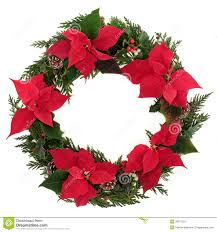 poinsettia wreath stock image image 26877221