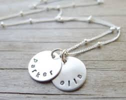 Mom Necklace With Kids Names Camilee Designs By Camileedesigns On Etsy