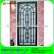 ornamental security iron grill door design for home buy security