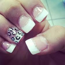 prom nails cheetah french tips u003c3 hair u0026 beauty that i love