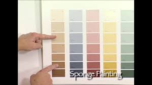 how to choose faux finishing paint colors for sponge painting by the woolie