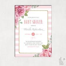 blue bunny printables u2014 floral baby shower invitation shabby chic