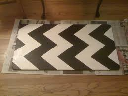 Diy Kitchen Rug Diy Painting Chevron Stripes On My Kitchen Rug Wiseman Designs