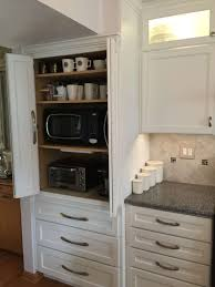 microwave cabinets with hutch appliance cabi great to hide microwave toaster oven coffee kitchen