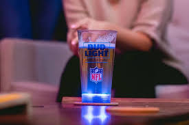 bud light touchdown glass app celebratory beer cups light up beer glass