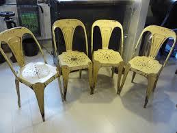 chaise tolix ancienne 4 chaises multipl s joseph mathieu no tolix 1950 mettetal industry