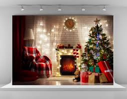2017 christmas photography backdrops indoor christmas tree