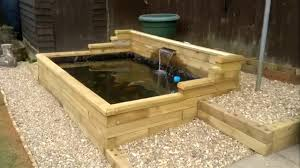 easy build raised wooden pond youtube