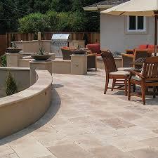 walnut travertine backsplash patios walkways porches pool decks travertine collection