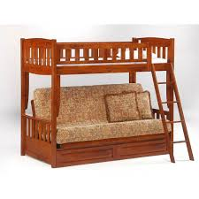 Bedroom Best Metal Twin Over Futon Bunk Bed With Standing Metal - Futon bunk bed with mattresses
