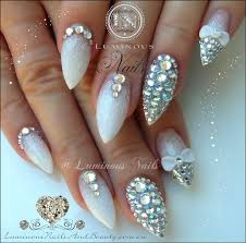cute acrylic nail designs with rhinestones images nail art designs