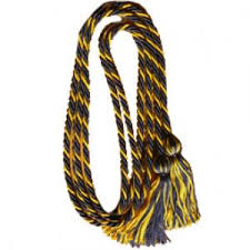 graduation cord navy blue gold intertwined honor graduation cord