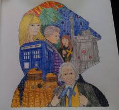 1st doctor coloring book page doctor who amino
