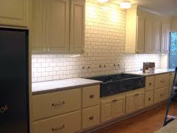 Backsplash Tile Grout Colors Subway Tile Backsplash With Expresso Cabinets White Subway Tile