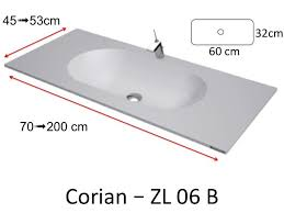 Corian Bathroom Worktops Washbasin Corian Type Worktop With Integrated Corian Washbasin