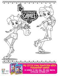 image pinkie pie and rarity friendship games coloring page jpg