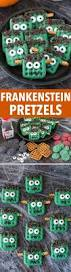 frankenstein pretzels recipe candy melts easy halloween and
