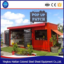 pop up mobile coffee shop container design 10ft 20ft 40ft