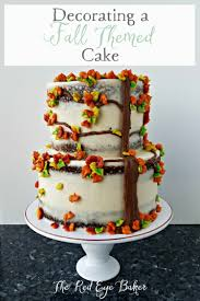 how to decorate a cake at home decorating a fall themed cake the red eye baker