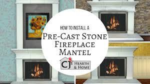 installing a cast stone fireplace mantel youtube