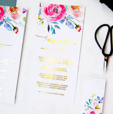 Gold Foil Wedding Invitations Gold Foil Floral Watercolour Wedding Invitation Pack By Made With