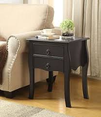 Curved Nightstand End Table Espresso White Side End Table Nighstand With Two Drawer Https