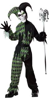 Halloween Jester Costume Boys Jokes Evil Jester Costume Party Dressing
