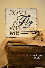 Nursery Airplane Decor Come Fly With Me Painted Airplane Sign Nursery