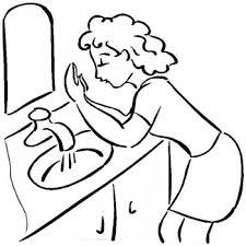 Hand Washing Coloring Sheet - hand washing coloring pages hometiful clip art library