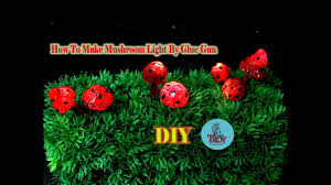 outdoor mushroom lights how to make mushroom light at home diy project youtube