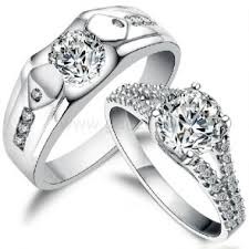 wedding ring sets for matching wedding and engagement ring band set for 2 personalized