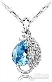blue diamond necklace gem images Ocean blue diamond necklace sapphire necklaces women 39 s pendants jpg