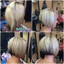 short blonde hair with red underneath our work hair we are salon