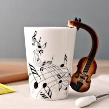 bairuiou ceramic coffee mug gifts creatuve tea cups with music