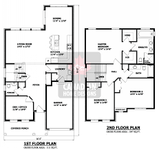 Two Story Rectangular House Plans Modern 2 Story House Floor Plans