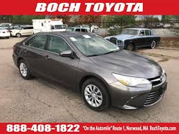 boch toyota south used cars used certified 2017 toyota camry le auto norwood ma near