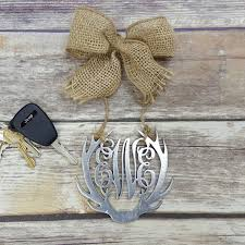 personalized rear view mirror charms car charm car monogram rear view mirror monogram 4 5 painted