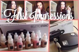 first impressions belletto studio airbrush makeup system youtube