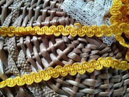 9 50 yards antique yellow silk trim french passementerie new old