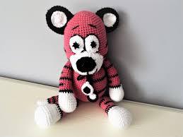 pink tiger crochet tiger amigurmi boys girls baby shower gift