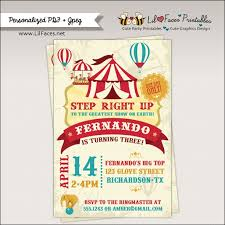 carnival birthday party invitations badbrya com