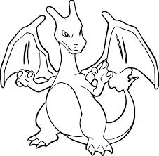 pokemon coloring pages mega charizard free printable kids