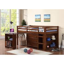 Bunk Beds With Dresser Underneath Wood Low Loft Bunk Bed For With Trundle Desk And Dresser