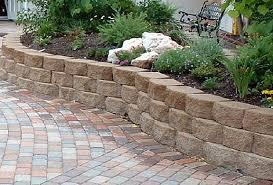 Backyard Retaining Wall Ideas Garden Stone Wall Ideas