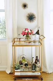 diy faux marble bar cart makeover sand and sisal