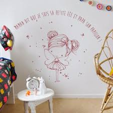 deco fee chambre fille stickers decoratifs chambre enfant stickers citation enfant