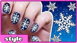 diy snowflake nail art winter snowflake nails tutorial cute