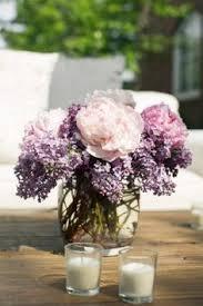 Purple Flowers Centerpieces by Purple Reception Wedding Flowers Wedding Decor Wedding Flower