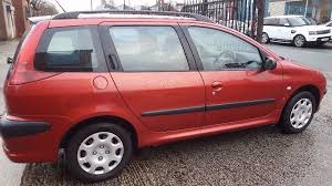 peugeot estate cars for sale peugeot 206 estate car with 11 month mot for quick sale in